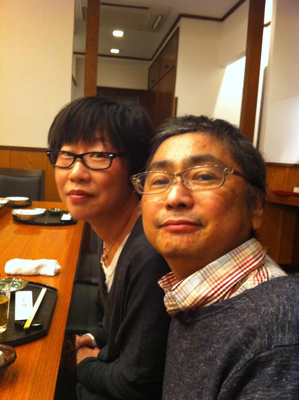 池沢さんと「はっちゃん」こと加賀八郎さん