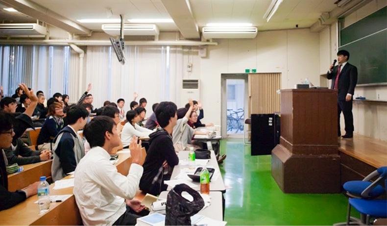京都大学の授業風景