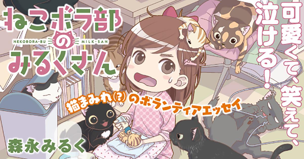 猫まみれ!!漫画家・みるくさんの猫ボランティアエッセイ【試し読み】