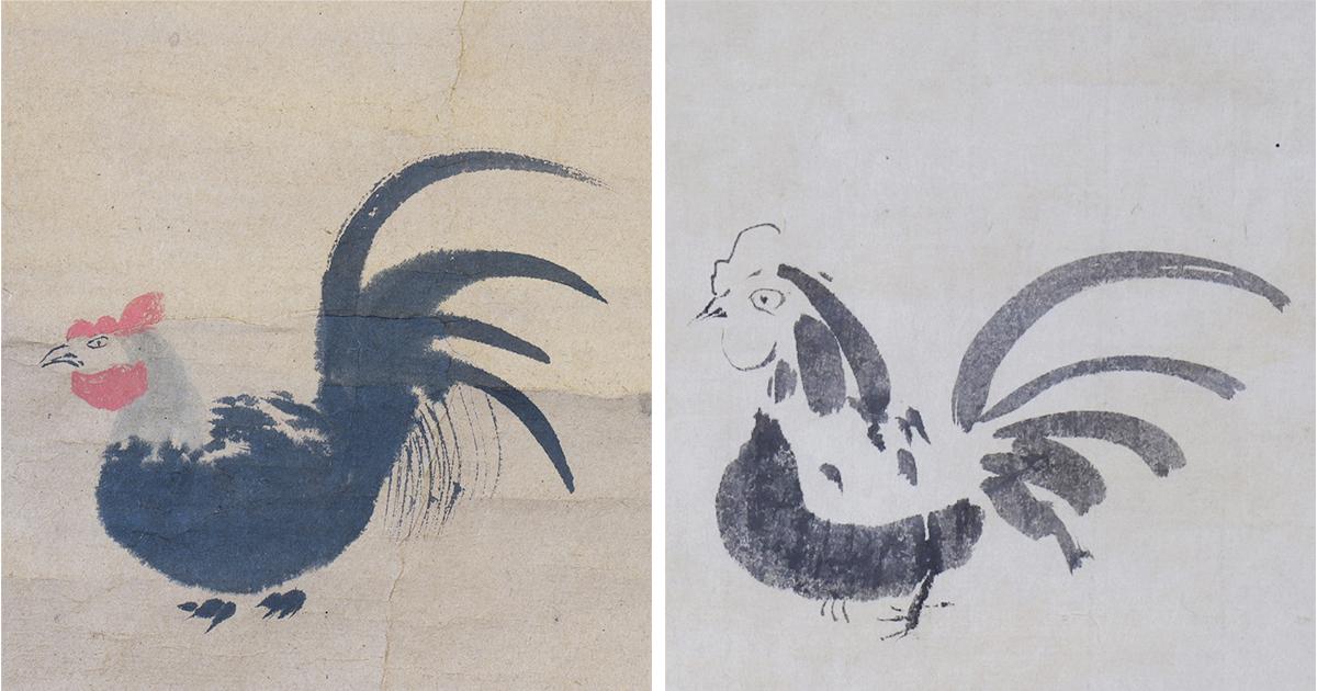 ヘタウマだけじゃない。家光の鶏、家綱の鶏を「へそまがり美術」展で公開中!